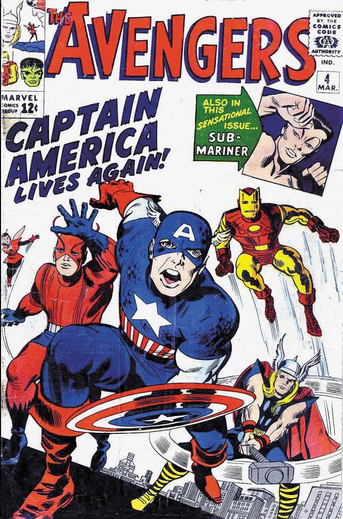 O retorno do Capitão América em Avengers nº 4