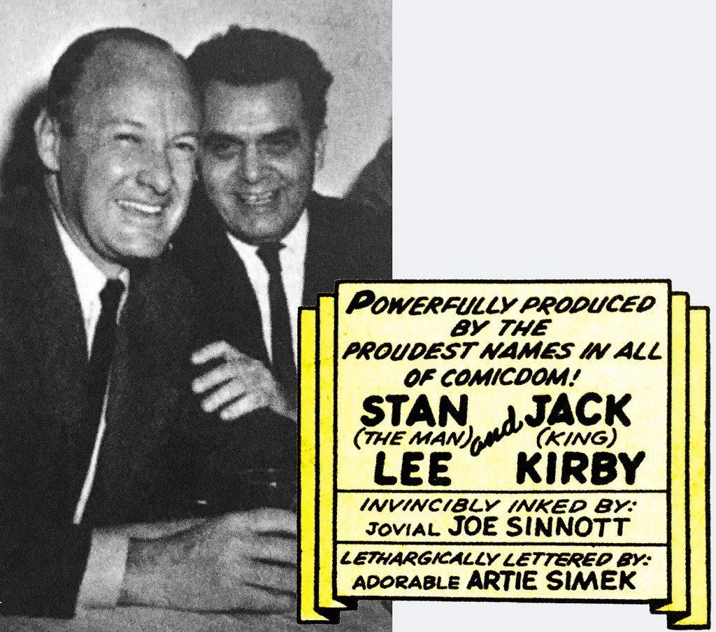 Stan Lee e Jack Kirby em 1966