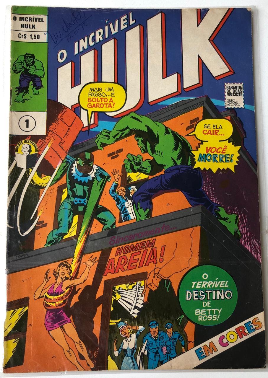 10° lote – O Incrível Hulk Nº 1