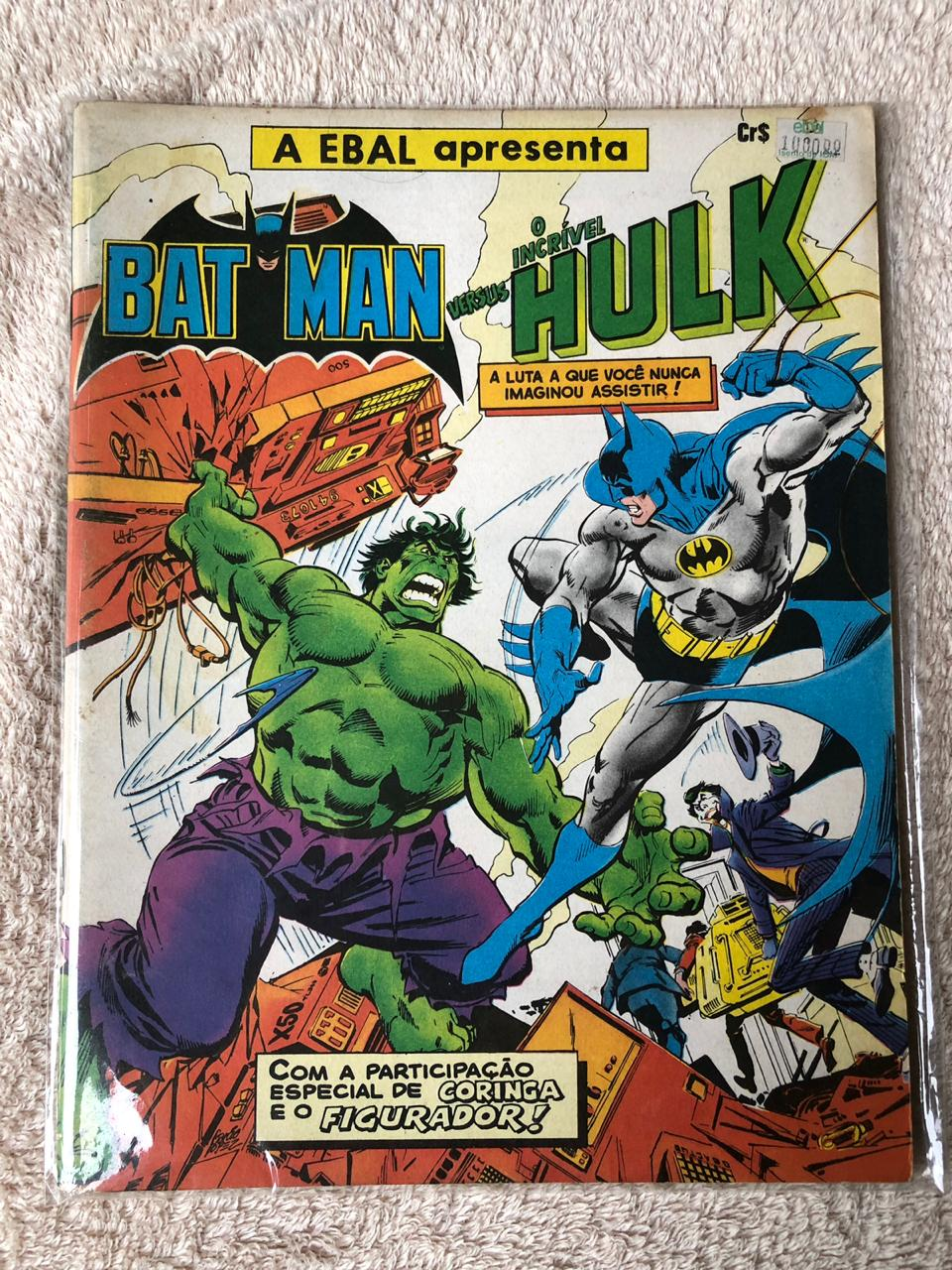 6° lote - Batman versus Hulk (Ed. Ebal)
