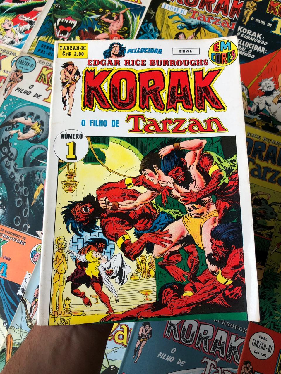 8° lote - Coleção Korak, O Filho de Tarzan Em Cores  (Ed. Ebal)