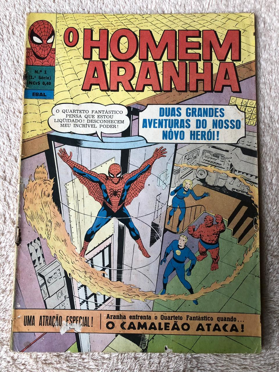 8° lote – Homem-Aranha n° 1 (Ed. Ebal, formato americano)