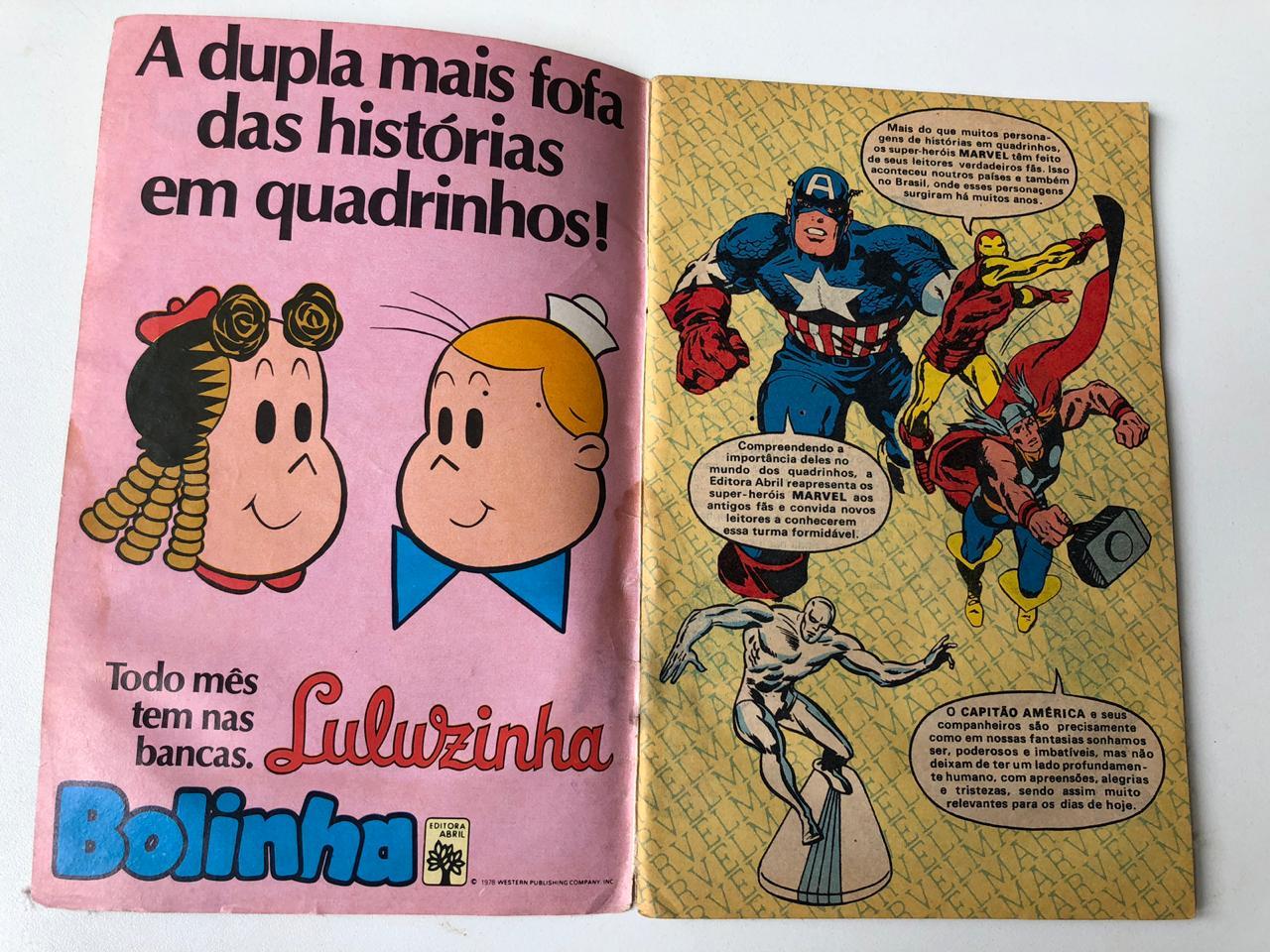 9° lote - Capitão América n° 1 (Ed. Abril, formatinho)